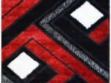 Red and White Bath Rug Black and Red Bathroom Rugs