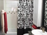 Red and White Bath Rug Black and White Shower Curtain Ideas On Foter
