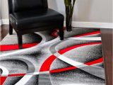 Red and White Striped area Rug 2305 Gray Black Red White Swirls 7 10 X 10 6 Modern Abstract area Rug Carpet