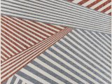 Red and White Striped area Rug Deadra Striped Blue White Red Indoor Outdoor area Rug