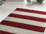 Red and White Striped area Rug Graphic Red & White Stripes Rug