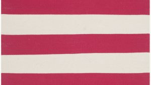 Red and White Striped area Rug Montauk Red & White Striped Contemporary area Rug