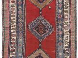 "Red Bath Rugs at Jcpenney Antique Hand Knotted Caucasian Runner 3 11""x 9 10"""
