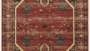 Red Black and Beige area Rugs Shelie Hexagon Red Black Beige area Rug