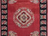 Red Black and Cream area Rug Bauxite Floral Handmade Flatweave Wool Red Black Cream area Rug