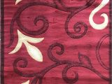 Red Black and Cream area Rug Emirates Modern area Rug Red Swirl Design 525 5 Feet 3 Inch X 7 Feet 2 Inch Red
