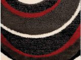 Red Black and Cream area Rug Shaggy Black Charcoal Red and Cream area Rug – 8 X 11