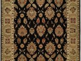 Red Black and Gold area Rugs Legazpi Hand Knotted Black Gold area Rug