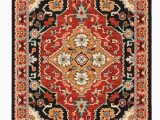Red Black and Gold area Rugs Nereus oriental Black Red area Rug