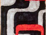 Red Black Grey area Rugs Colibri 3d Black Red Grey area Rug