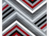 Red Black Grey area Rugs Summit Collection Abstract Gray Red Black and White area Rug Walmart