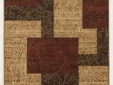 Red Brown and Tan area Rugs Cottage area Rugs Rosemont Red Medium Rug