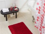 Red Cotton Bath Rug Obsessions Universal Cotton Bath Mat Red