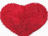 Red Fluffy Bathroom Rugs Amazon Com Red Love Heart Microfiber Chenille soft