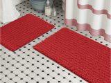 Red Fluffy Bathroom Rugs Zebrux Non Slip Thick Shaggy Chenille Bathroom Rugs Bath