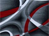 Red Grey and Black area Rugs 2305 Gray Black Red 5×7 8×11 area Rug Modern Contemporary