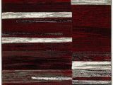 Red Grey and Black area Rugs Amazon Lyke Home Red Grey Olefin Machine Made area Rug