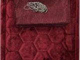 Red Memory Foam Bathroom Rugs Amazon 15 Piece Bath Rug Set Honey B Design Memory