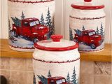 Red Truck Bathroom Rug Red and White Cannister Set Old Red Pickup Truck Kitchen