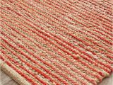 Red White and Blue Braided Rugs Castana Coral Hand Braided Natural Jute Rug