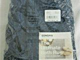 "Reversible Contour Bath Rug Nip sonoma Goods for Life Ultimate Contour Bath Rug 20"" X 24"" Blue"