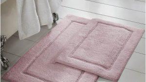 Rose Colored Bathroom Rugs 2 Piece Non Slip Cotton Bath Rug Set 17 X 24 X 34