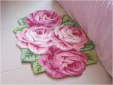 Rose Colored Bathroom Rugs Elegant Rose Flower Bath Rug Floor Mat Door Rug Best