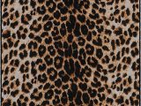 """Round Animal Print area Rugs Brumlow Mills Animal Print area Rug for Living Room Dining Room Kitchen Bedroom and Contemporary Home Décor 3 4"""" X 5 Leopard"""