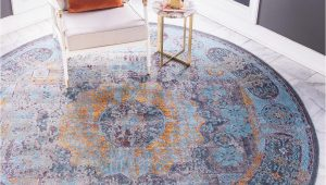 Round area Rugs 5 X 5 Blue 5 5 X 5 5 Santiago Round Rug area Rugs