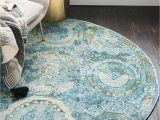Round area Rugs 5 X 5 Light Blue 5 5 X 5 5 Santiago Round Rug area Rugs