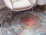 Round area Rugs 5 X 5 Light Blue 5 5 X 5 5 Santiago Round Rug Rugs