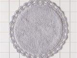 Round Black Bath Rug Round Crochet Trim Bath Mat