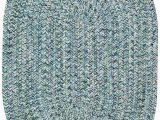 Round Blue Braided Rug Sea Glass Ocean Blue Braided Rugs
