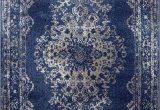 Round Blue oriental Rugs Dara Rugs 3931 Dark Blue oriental 5 X 7 area Rug Carpet New