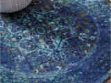 Round Blue oriental Rugs Nuloom Reiko Vintage Persian Rug 8 Round Blue