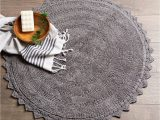Round Gray Bath Rug Amazon Dii Ultra soft Spa Cotton Crochet Round Bath Mat