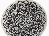 "Round Gray Bath Rug Black Mandala Round Home Decor Rug soft Bath Mat Eco Friendly Gift for Her 2 Different Diameters 39"" and 55"""