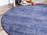 Round Navy Blue area Rug Angelica Navy Blue 8 Ft Round area Rug In 2020