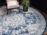Round Navy Blue area Rug Navy Blue 8 X 8 Dover Round Rug Rugs