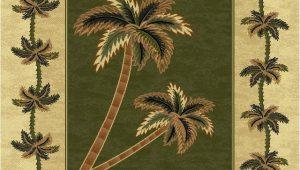 Round Palm Tree area Rug Green Bahamas Palm Tree Rug 2318