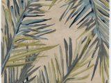 Round Palm Tree area Rug Ivory Montego Palm Tropical Wool area Rug