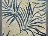 """Round Palm Tree area Rug Palm Color Blueberry Size 9 10"""" X 13 2"""""""