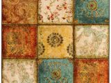 Royal Blue and Gold area Rug Genevra Floral Geometric Paisley Rust Red Royal Blue Gold area Rug