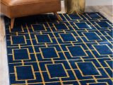 Royal Blue and Gold area Rug Glam Gold Beige area Rug