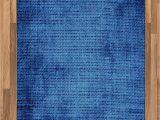 Royal Blue and Grey area Rug Amazon Lunarable Navy Blue area Rug Faded Burlap