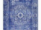 Royal Blue and Grey area Rug Bridgeport Home Wisdom Wis3 Royal Blue 4 X 6 area Rug