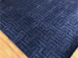 Royal Blue and Grey Rug Artisan 99 X 79