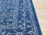 Royal Blue and Grey Rug Florence Provincial Rug Royal Navy Blue