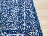 Royal Blue and Grey Rug Florence Provincial Rug Royal Navy Blue