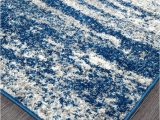 Royal Blue and Grey Rug Mirage Modern 355 Rug Royal Blue Grey